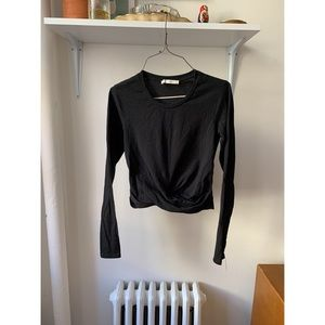 ZARA BLACK LONG SLEEVED CROP